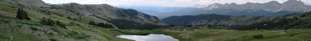 Looking west from the top of Cottonwood Pass