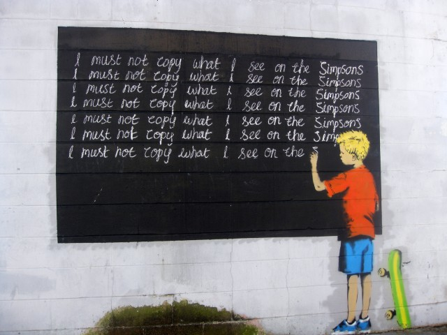 Banksy - Simpsons Must Not Copy