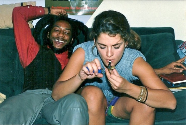 Brooke Shields And H.R. Smoking Weed